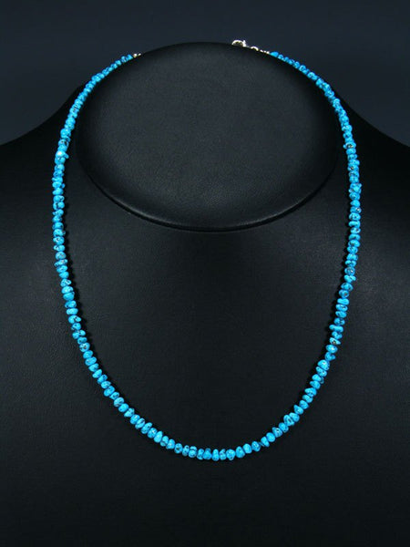 Navajo Turquoise Single Strand Beaded Necklace