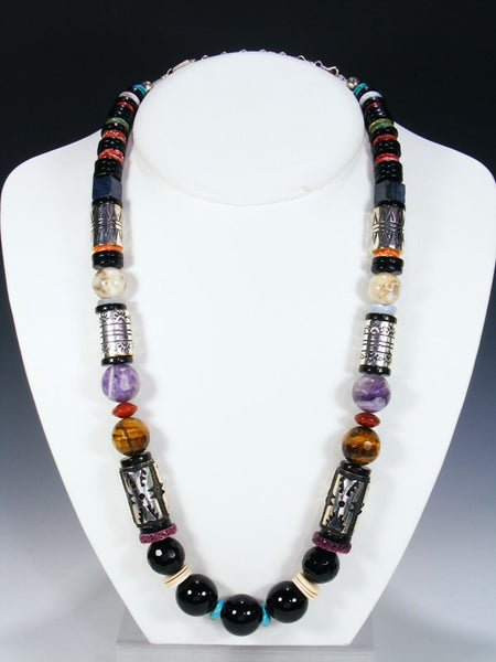 Multi-Stone Single Strand Necklace