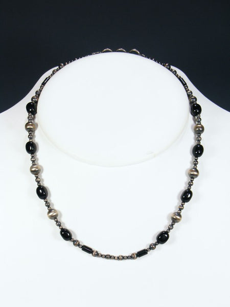 Native American Bench Bead Onyx Necklace