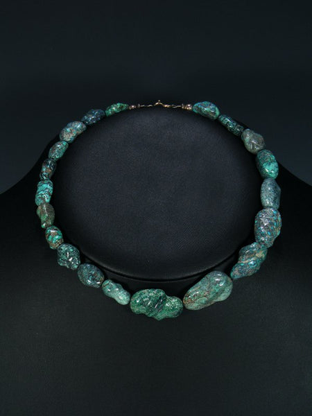 Native American Indian Turquoise Nugget Choker Necklace