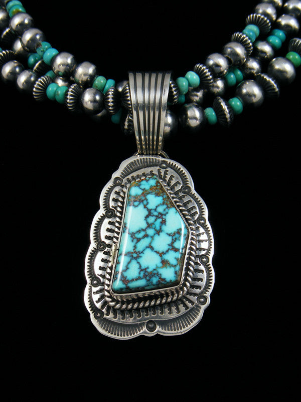 Native American Turquoise Mountain Necklace and Earrings Set