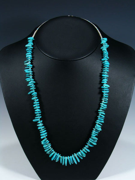 Native American Indian Jewelry Stacked Turquoise Necklace