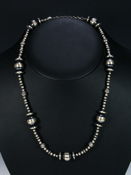 Native American Single Strand Sterling Silver Necklace