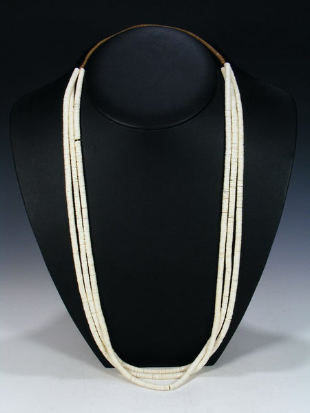 Santo Domingo Three Strand White Shell Necklace