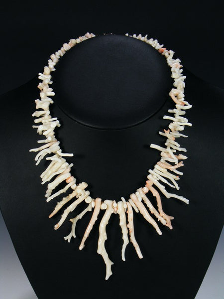 Vintage Native American Pink Coral Necklace