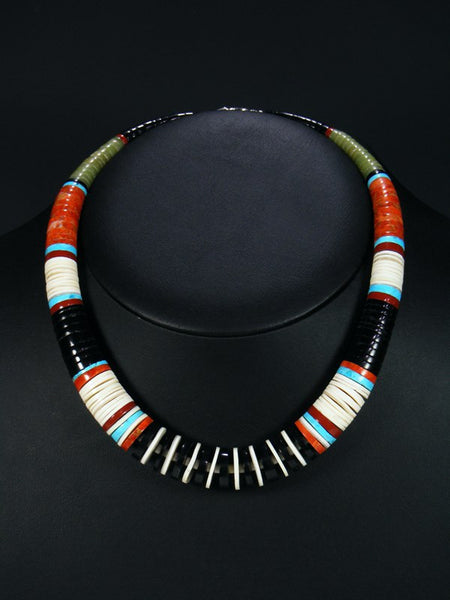 Native American Indian Jet and Shell Necklace