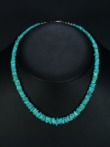 Native American Graduated Turquoise Choker Necklace