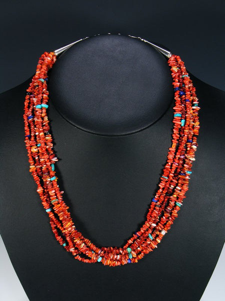 Native American Santo Domingo Red Spiny Oyster Necklace