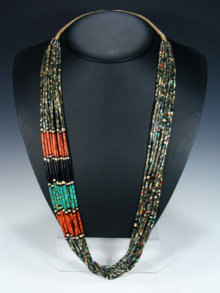 Ten Strand Native American Santo Domingo Abalone Heishi Necklace