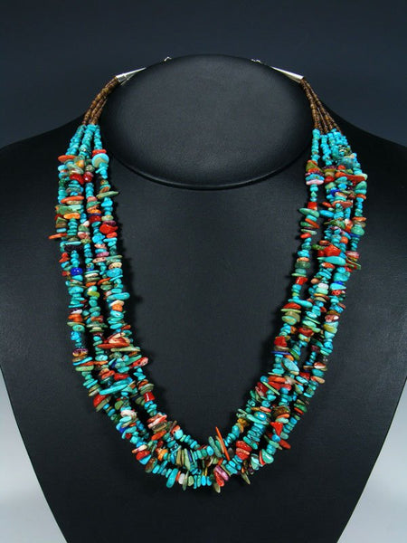 Native American Santo Domingo Turquoise Treasure Necklace