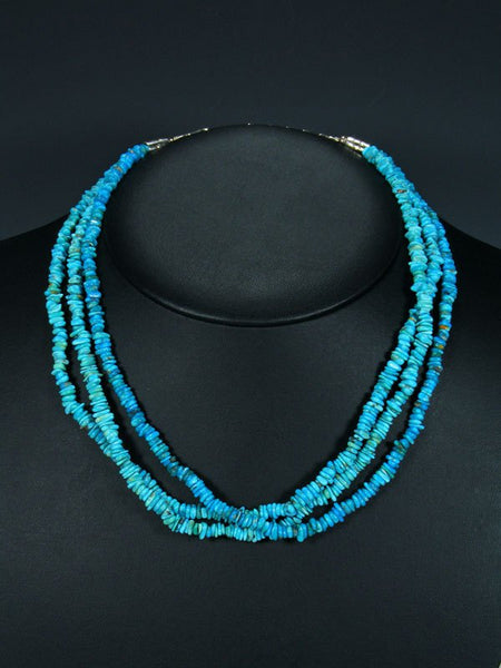 Native American Three Strand Turquoise Necklace
