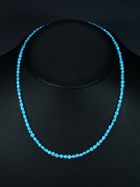 Native American Single Strand Turquoise Bead Necklace