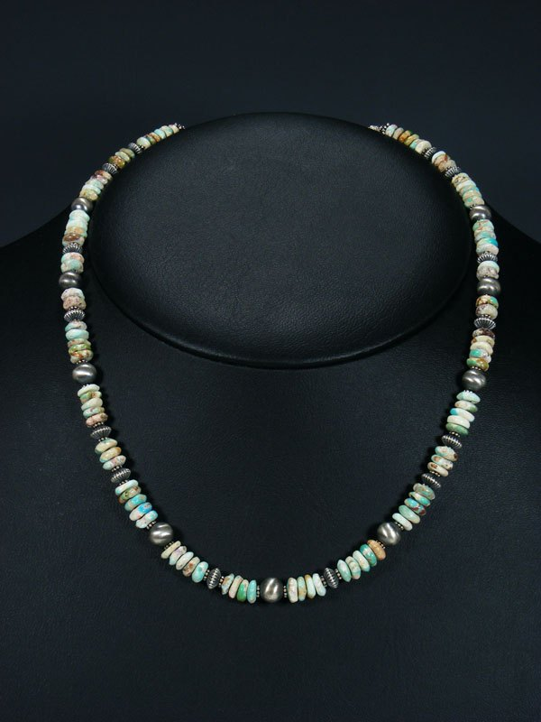 Native American Boulder Turquoise Bead Necklace