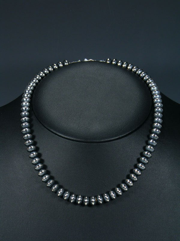 Native American Sterling Silver Bead Necklace