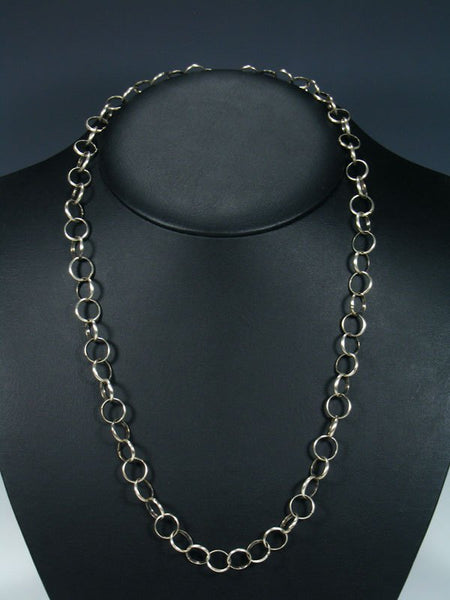 Native American Sterling Silver Handmade Link Chain