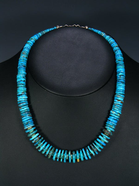 Native American Indian Jewelry Single Strand Chunky Turquoise Necklace