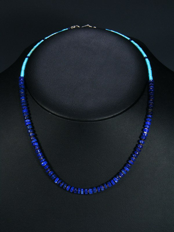 Native American Lapis and Turquoise Choker Necklace