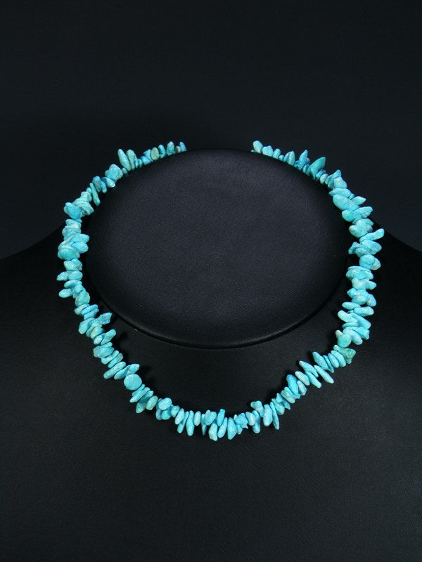 Native American Natural Turquoise Choker Necklace