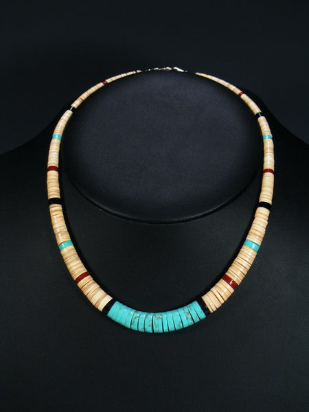 Native American Indian Santo Domingo Shell Choker Necklace