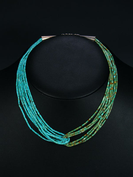 Ten Strand Navajo Green and Blue Turquoise Choker Necklace