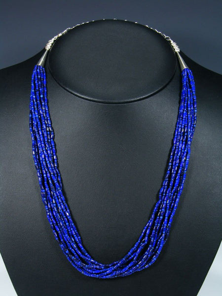 Native American  Santo Domingo Natural Lapis Necklace Set