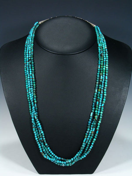 Native American Four Strand Turquoise Necklace