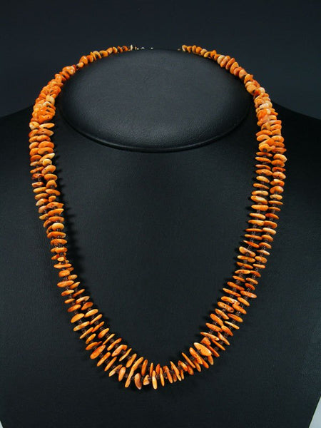 Native American Spiny Oyster and Heishi Double Strand Necklace
