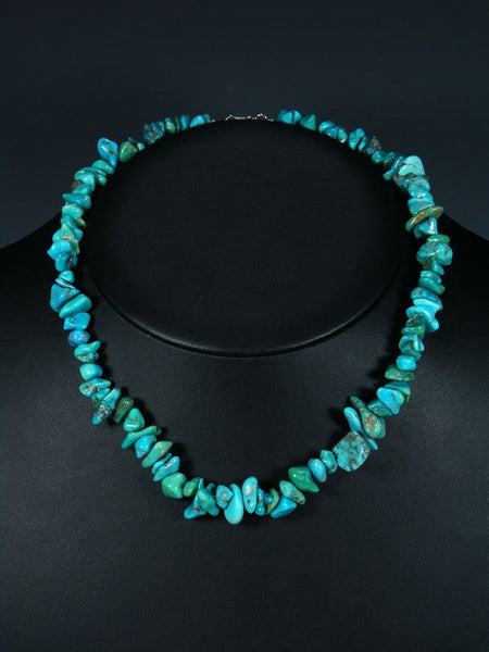 Native American Santo Domingo Turquoise Single Strand Necklace
