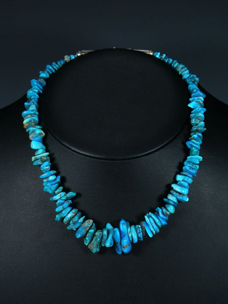 Native American Graduated Single Strand Turquoise Necklace