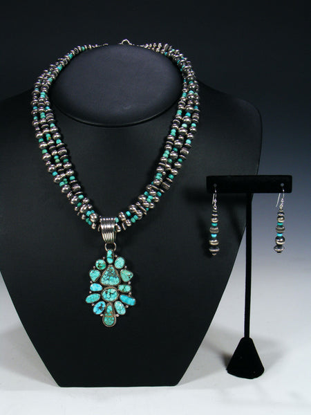 Native American Kingman Turquoise Necklace Set