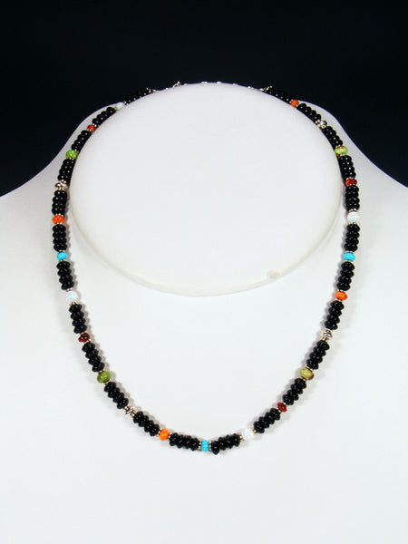 Native American Onyx Bead Choker Necklace