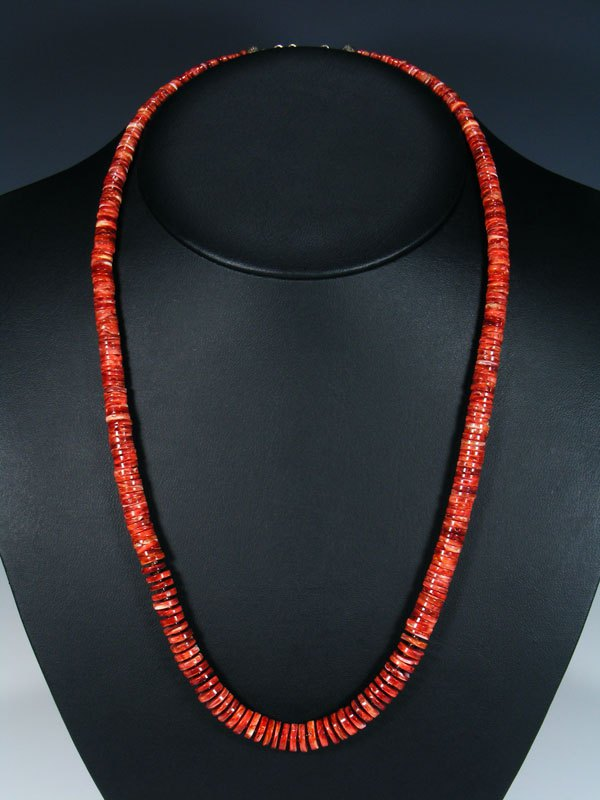 Native American Indian Jewelry Single Strand Spiny Oyster Necklace