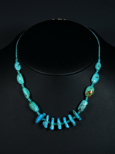 Native American Nugget Turquoise Choker Necklace