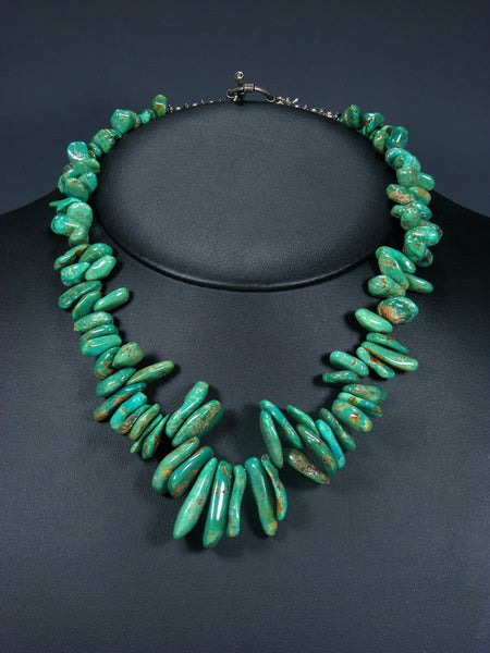 Native American Turquoise Tab Necklace