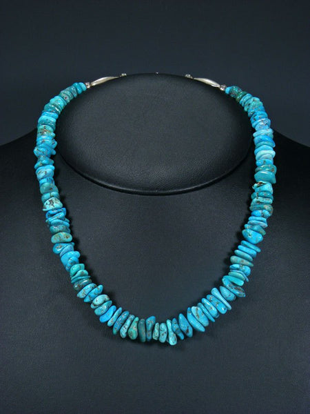 Native American Turquoise Chunk Necklace