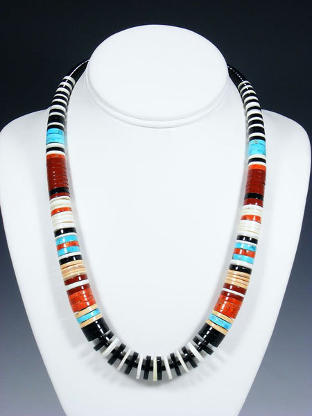 Native American Indian Turquoise and Shell Necklace