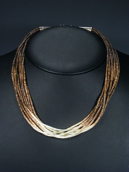 Native American Santo Domingo Heishi Choker Necklace