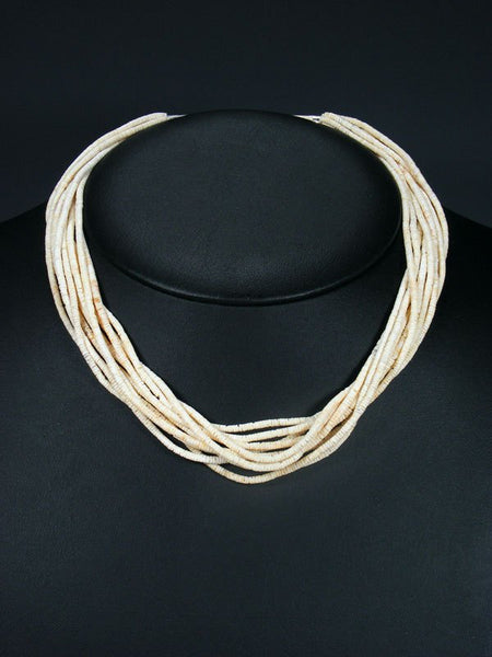 Native American Santo Domingo Heishi 10 Strand Choker Necklace