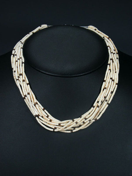 Native American Santo Domingo Heishi 10 Strand Necklace