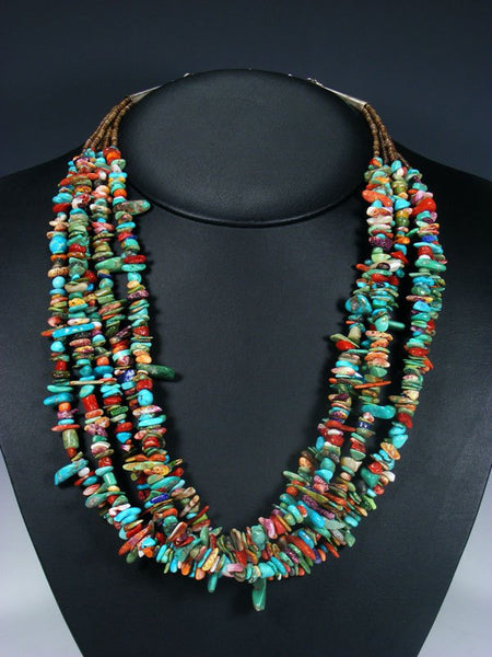 Native American Indian Jewelry Turquoise Multistone Necklace