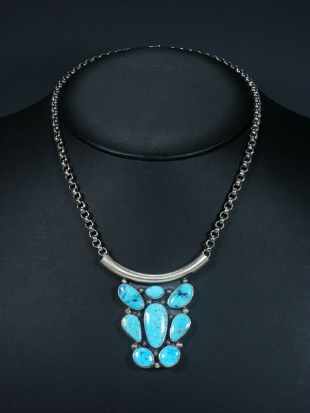 Navajo Turquoise Choker Link Chain Necklace