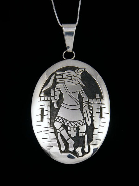 Native American Indian Sterling Silver Pictoral Kachina Pendant