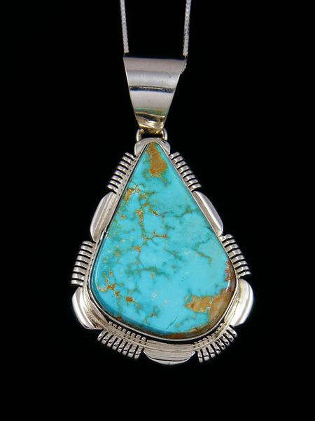 Native American Indian #8 Turquoise Pendant