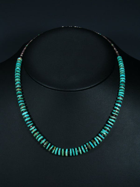 Native American Turquoise and Shell Heishi Choker Necklace