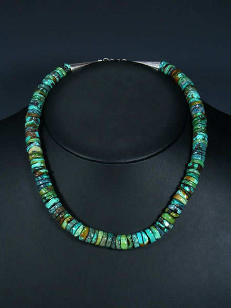 Native American Indian Jewelry Single Strand Turquoise Choker Necklace