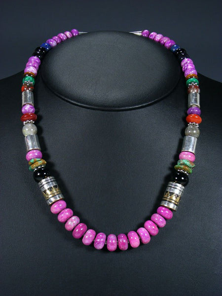 "Dyed Jasper 21"" Single Strand Bead Necklace"