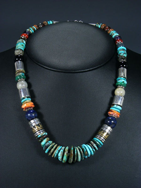 "21"" Turquoise Large Single Strand Bead Necklace"