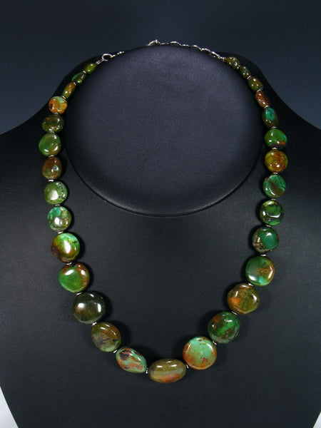 Native American Green Hubei Turquoise Necklace