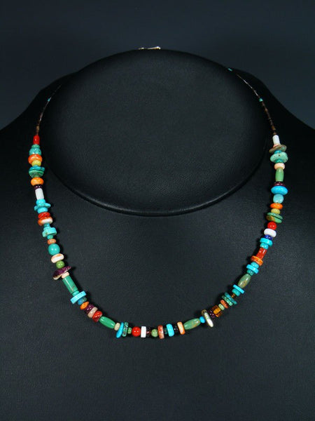 Native American Indian Turquoise Multi Stone Necklace