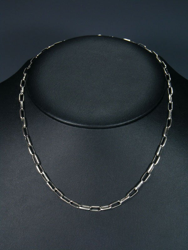 "Navajo 18"" Handmade Sterling Silver Link Chain Necklace"